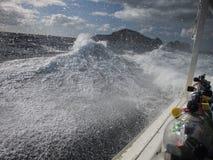 与码头的Waddensea日落 免版税图库摄影