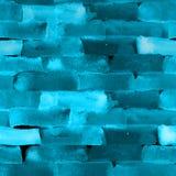 与砖和线的无缝的水彩样式在黑色 免版税库存图片