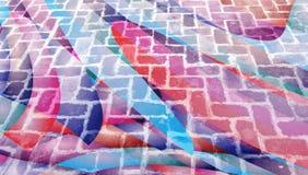 与砖纹理的抽象背景 图库摄影