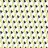 与破折号线补缀品样式传染媒介背景的微小的心脏 免版税库存图片