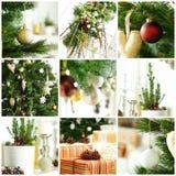 与礼品和Xmas结构树的圣诞节背景 免版税库存图片