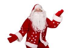 与礼品的圣诞老人 免版税图库摄影