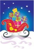 与礼品的圣诞节雪橇 免版税库存图片