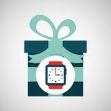与礼物手表的愉快的父亲节 库存照片
