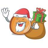 与礼物百吉卷吉祥人动画片样式的圣诞老人 向量例证