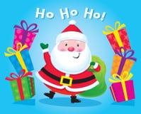 与礼物的圣诞老人 库存照片