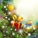 与礼物的圣诞节backgroung 免版税库存照片