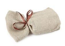 与礼物的布料袋子 库存照片