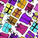 与礼物的样式 免版税库存图片