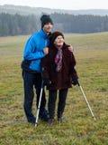 与祖母的步行 库存图片