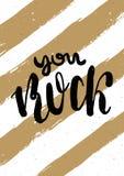与祝贺的贺卡在圣情人节A4 向量 免版税库存照片