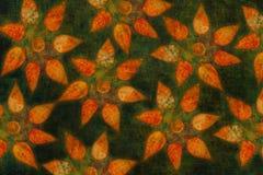 与秋叶拼贴画的五颜六色的装饰背景样式 库存图片