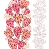 与秋叶的无缝的墙纸,垂直的构成,韩 免版税图库摄影