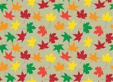 与秋天叶子的传染媒介无缝的样式 免版税库存图片