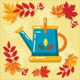 与秋天leaves_3的秋天农业象 库存照片
