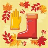 与秋天leaves_4的秋天农业象 免版税库存照片