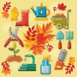 与秋天leaves_1的秋天农业象 库存照片