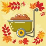 与秋天leaves_6的秋天农业象 库存照片