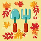 与秋天leaves_7的秋天农业象 库存照片