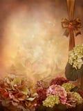 与秋季花的背景 库存照片