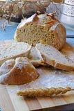 与种子的新鲜面包切画象旁边庄稼 库存图片