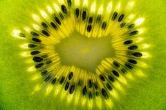 与种子的猕猴桃细节 免版税图库摄影
