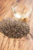 与种子的Chia油 免版税库存图片