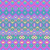 与种族主题的无缝的几何样式 皇族释放例证