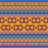 与种族主题的无缝的几何部族样式 库存例证