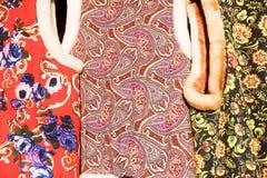 与种族样式的纺织品 库存照片