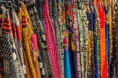 与种族样式的纺织品 免版税图库摄影