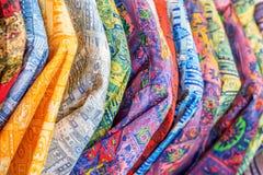 与种族样式的纺织品 库存图片