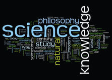 与科学概念的词云彩 库存照片