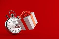 与秒表的礼物 库存照片