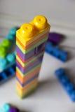 与积木玩具的塔 图库摄影