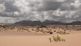 与移动的云彩的沙漠视图 股票视频