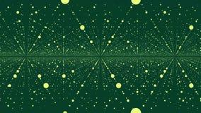 与移动的小点的抽象美好的几何背景 结节幻想摘要技术 抽象动画与 皇族释放例证