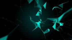 与移动的线、小点和三角的抽象美好的几何背景 结节幻想摘要技术 皇族释放例证
