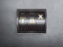 与税文本标志的逆数字 免版税图库摄影