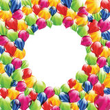 与空白圈子的气球 库存图片