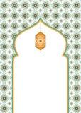 与空白的伊斯兰教的艺术性的背景设计 免版税库存图片