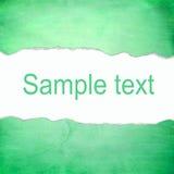 与空白的抽象绿色背景文本的 图库摄影