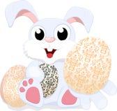 与空白符号的复活节兔子 库存图片