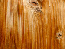 与空白线路的布朗木头 免版税库存图片