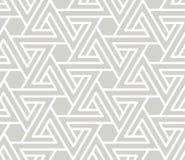 与空白线路纹理的摘要简单的几何传染媒介无缝的样式在灰色背景 浅灰色现代 向量例证