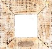 与空白铈的老木制框架 免版税图库摄影