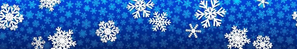 与空白雪花的圣诞节横幅 库存照片