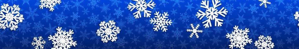 与空白雪花的圣诞节横幅 图库摄影