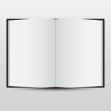与空白页的空白被开张的书。 向量。 库存照片