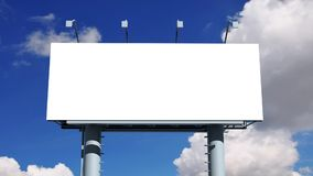 与空的屏幕的广告牌 库存例证